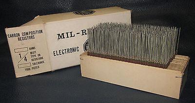 Mil Spec Box Of 14w Watt Carbon Comp 5 Resistors 510 Ohm 1000 Pieces