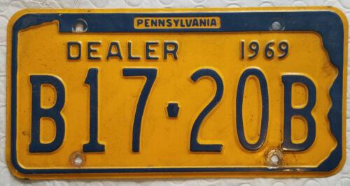 Pennsylvania License Plate - 1969 Dealer