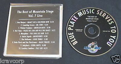 UNCLE TUPELO/MORPHINE/BEN HARPER 'BEST OF MOUNTAIN STAGE VOL. 7' 1994 PROMO
