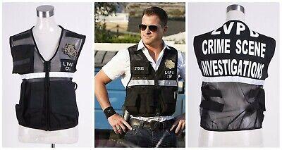 Vest of CSI Crime Scene Investigation Las Vegas Cosplay Costume Halloween Party