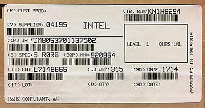 Intel CM8063701137502 SR0RG Core i3-3220 Processor 3M Cache, 3.30 GHz NEW TRAY
