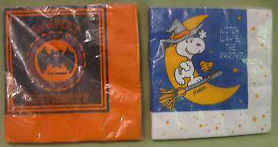 Bundle of 2 Vintage Hallmark Halloween Napkin Packages Brand New-- 32 Napkins