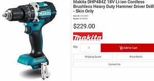 Makita DHP484Z 18V Li-ion Cordless Brushless Hammer Driver Drill Bundoora Banyule Area Preview