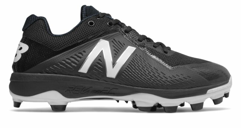 New Balance Low-Cut 4040v4 TPU Baseball Cleat Mens Shoes Black with White