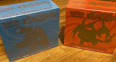 Pokemon XY Evolutions Elite Trainer Boxes Blastoise+Charizard SEALED