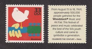 WOODSTOCK MUSIC FESTIVAL 1969 - U.S. POSTAGE STAMP - MINT CONDITION