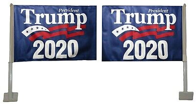 Lot of 12 12x18 President Trump 2020 Rough Tex Knit 2-Faced 12