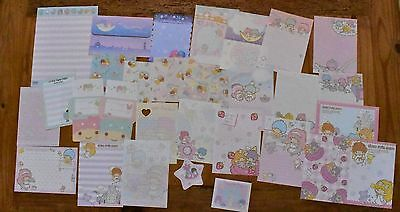Sanrio Little TWIN Stars Stationery / Stationary LOT Memo Note Paper 30 Sheets