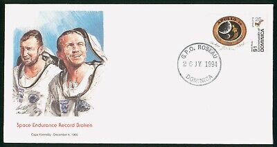 MayfairStamps Dominica 1994 Space Endurance Record Broken Space Cover wwo61117