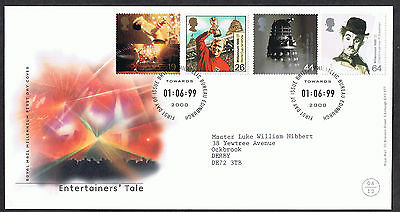 The Entertainers' Tale 1999 First Day Cover - SG2092 to SG2095 Edinburgh Cancel