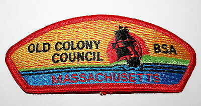 Vintage BSA Old Colony Council Massachusetts Boy Scouts Shoulder Cloth Patch New (Colonial Boy Clothing)