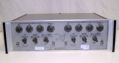 Tested Krohn-hite 3323 Dual Channel Variable 4-pole Filter - 0.01hz To 99.9khz