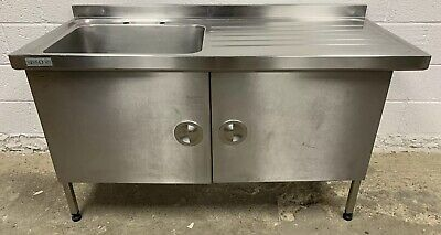 SISSONS SINGLE BOWL SINK WITH CUPBOARD UNIT 1500 MM WIDE £275 + VAT
