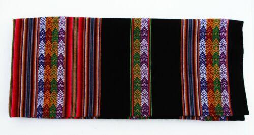 Black Aguayo Tablecloth South American Peru Inka Peruvian Bolivia