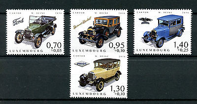 Luxembourg 2016 MNH Cars of Yesteryear Pt III 4v Set Donnet-Zedel Ford Stamps