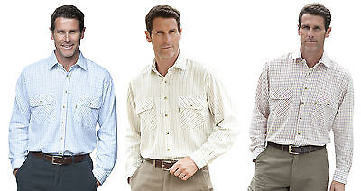 Classic Shirts Traditional Style Mens Tattersall Longsleeve Shirt by Champion