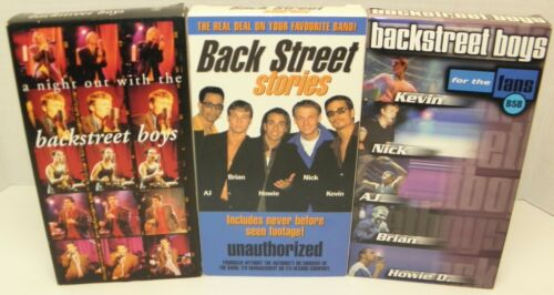 Lot of 3 Backstreet Boys VHS Tapes 1998 - 2000 A night out , Back Street Stories