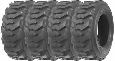 4 12-16.5 Skid Steer Tires 12 Ply Rating 12x16.5 For Case Caterpillar