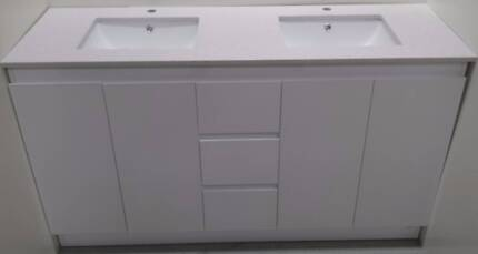 Bathroom Vanity with double basin[white stone top-1200 mm] Moorabbin Kingston Area Preview