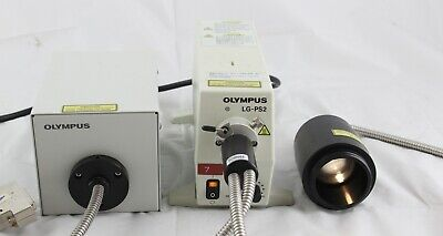 Olympus Lg-ps2 Fv5-td Bx Ax Microscope Fiber Optic Light Guide Illuminator Lamp