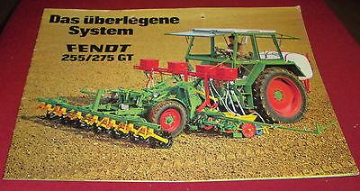 prospekt heft alt traktor fendt system 255/275 gt  reklame werbung 70er
