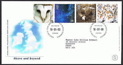 Above and Beyond 2000 First Day Cover - SG2125 to SG2128 Edinburgh Cancel
