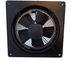 Plate Axial Extractor Ventilation Fan 200mm 730M3/H + Free External Wall Grille