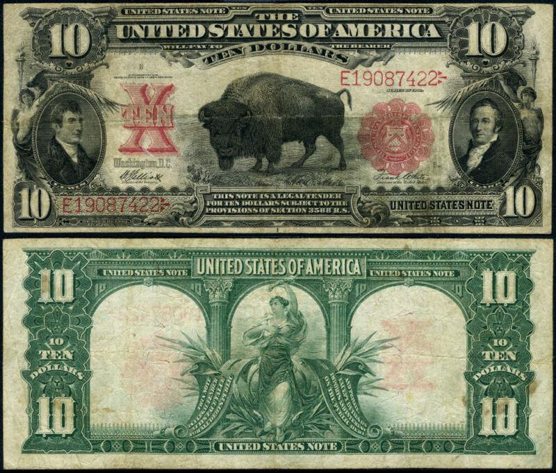 FR. 121 $10 1901 Legal Tender Mule Fine+