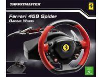 Thrustmaster Ferrari 458 Spider Racing Wheel (Xbox One & PC) - BRAND NEW, IN BOX.