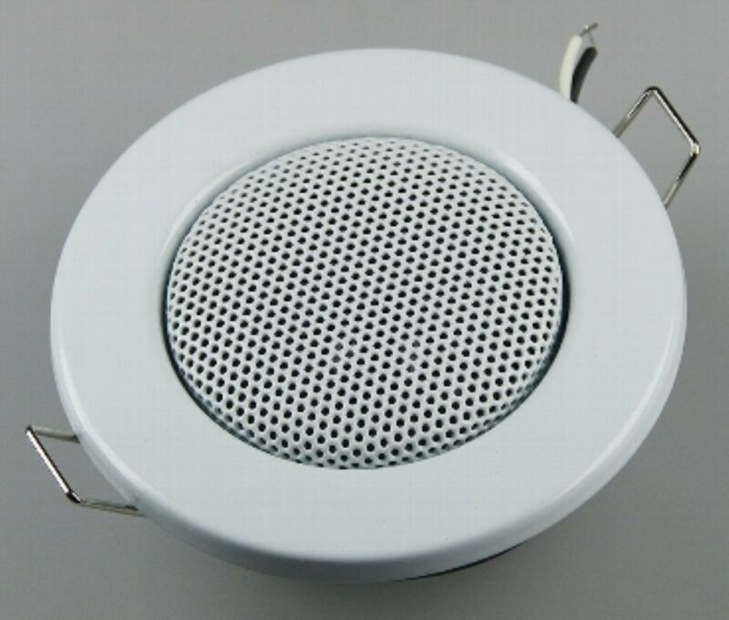 Speaker Recessed Speaker Ceiling Speaker Halogen Look 3 1/8in Ø, 2 3/8in White