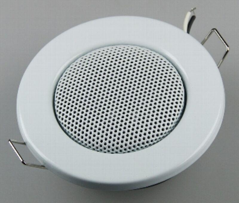 "Ceiling Speakers "" Mini "" Halogen - Look, 3 1/8in Ø, 2 3/8in Installation, White"
