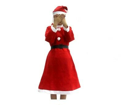 Mrs. Santa Claus Costume Christmas Fancy Dress Adult Ladies Women's Cosplay - Mrs Santa Claus