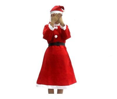 Mrs. Santa Claus Costume Christmas Fancy Dress Adult Ladies Women's Cosplay Red - Mrs Santa Claus Costume