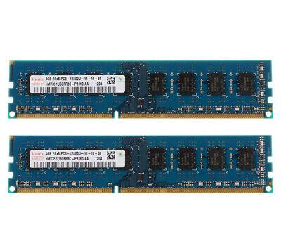 2pcs For Hynix 4GB 2Rx8 PC3-12800 DDR3 1600MHZ 240PIN Desktop Speicher RAM @MT