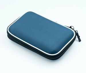 Blue 2.5 HDD Bag Hardcase for Portable Hard Disk Drive Case Twin Zipper Cover