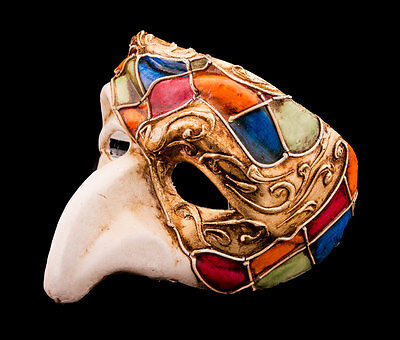 Mask Venice Polichinelle- Paper Mache for Homme-Haut of the Range 2146-VG8