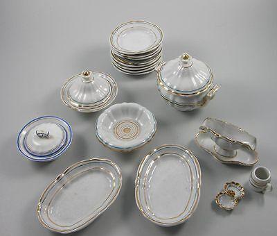 16teiliges Puppenservice Miniaturservice Lot um 1900