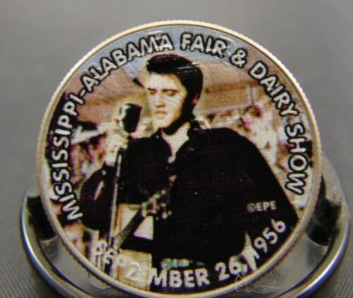 Elvis Presley Tribute Coin Dairy Fair Colorized Kennedy Half Dollar Mississippi