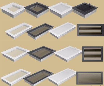 Kamin Gitter Luftgitter Lüftungsgitter  Warm Kalt 8 Größen Verstellbar Lamellen - Verstellbare Luft
