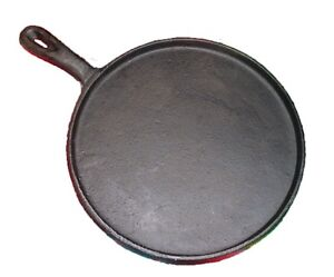 HEAVY DUTY Tortilla Griddle Comal Cast Iron 8 Inches