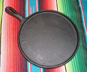 HEAVY DUTY Tortilla Griddle Comal, Cast Iron 10 Inches