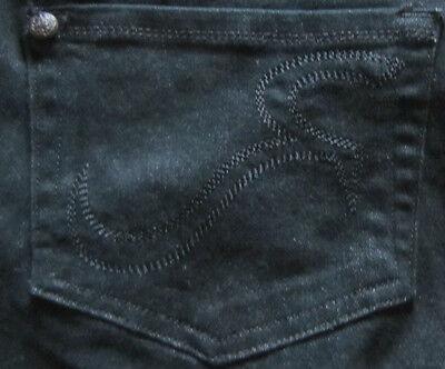 Rock & Republic Designer Maternity Straight Leg Jeans Ritchie Sz 30 10 Black