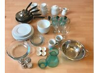 Dinnerware/Cutlery/Pan 4/6 sets - suitable for rental/student