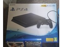 PS4 1TB BOXED FOR SALE