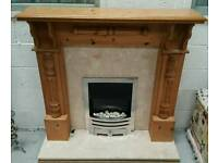 Lovely handmade fire surround with marble backing and Harth can deliver