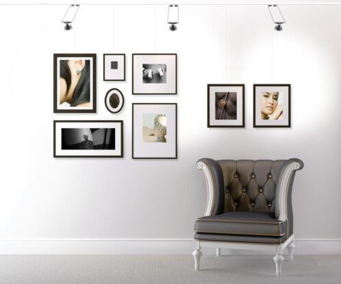 schilderijverlichting en diverse schilderijen ophangsystemen