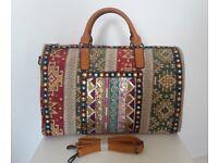 Southwestern Bohemian Design Travel Handbag Weekend Shoulder Duffle Holdall Bag / Joblot & Wholesale