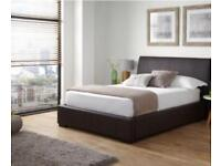 King Size Leather Effect Ottoman Bed Frame