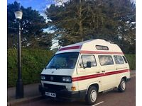REDUCED FROM £11,998 TO £10,998 VW T25 AUTOSLEEPER TRIDENT 4 BERTH 87000 MILES FULLY SERVICED SUPERB