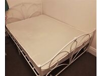 DOUBLE BED- (mattress + bed frame) GREAT CONDITION, COLLECTION ASAP